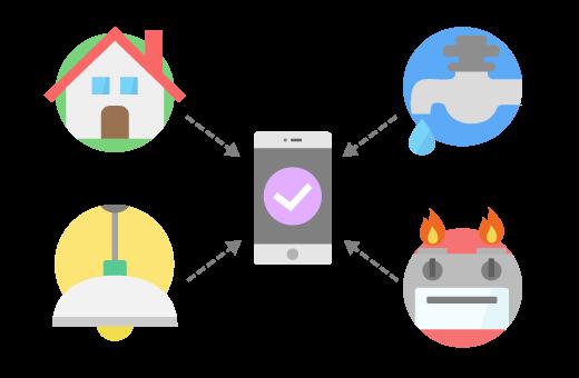設備の情報や様々な手続きをアプリでひとまとめに。